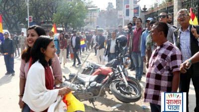राप्रपाको प्रर्दशनिमा रत्नपार्कमा झडप , नेता तथा कार्यकर्ता प्रहरी नियन्त्रणमा