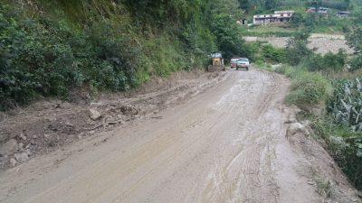 स्थानीयवासीको चर्को दबाबपछि 'भक्तपुर–नगरकोट सडक' निर्माण पाँच महिनामा सक्ने प्रतिबद्धता