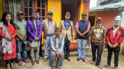 साङ्गलामा संचारकर्मी राजन नेपालको पहलमा गरिवको  घर  निर्माण