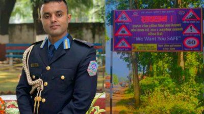 एक्सनमा ट्राफिक प्रमुख भट्ट : सवारी दुर्घट्ना न्युनीकरणका लागी ट्राफिक सचेतनामुलक बोर्ड