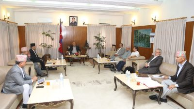नेकपाको सचिवालय बैठक बालुवाटारमा जारी