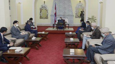 राष्ट्रपतिसँग अमेरिकी राजदूतको भेटवार्ता