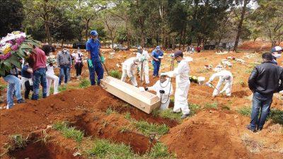 ब्राजिलमा कोरोना भाइरसका कारण एकै दिनमा १५ सयभन्दा बढीको मृत्यु