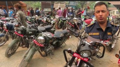मोडिफाइ गरी ठूलो आवाज निकाल्ने मोटरसाइकल प्रहरीको निशानामा : ३४ वटा बाइक नियन्त्रणमा