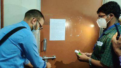 वीपी कोइराला स्वास्थ्य विज्ञान प्रतिष्ठानका पदाधिकारीको कार्यकक्षमा तालाबन्दी