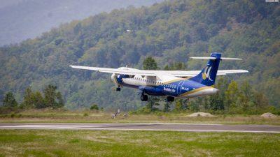 तुम्लिङटार विमानस्थलमा वुद्ध एयर एटीआर–७२ जहाजको परिक्षण उडान ( फोटो…