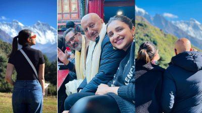 मनाङमा भारतीय चलचित्र 'उचाइ' छायाङ्कन